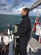 Jullian at the helm