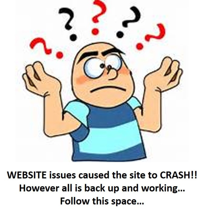Website Issue now RESOLVED!