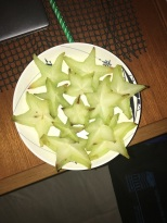 A plate of star fruit - Picked locally!
