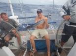 Martin with a king mackerel